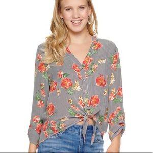Liberty Love Floral Button Down Blouse
